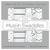 SwaddleDesigns Touch of Shimmer Muslin Swaddles - Set of 4