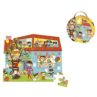 Janod Hat Box Puzzle - Birthday Party
