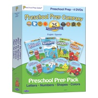 Preschool Prep Company DVD 4 Pack - Letters, Numbers, Shapes, and Colors